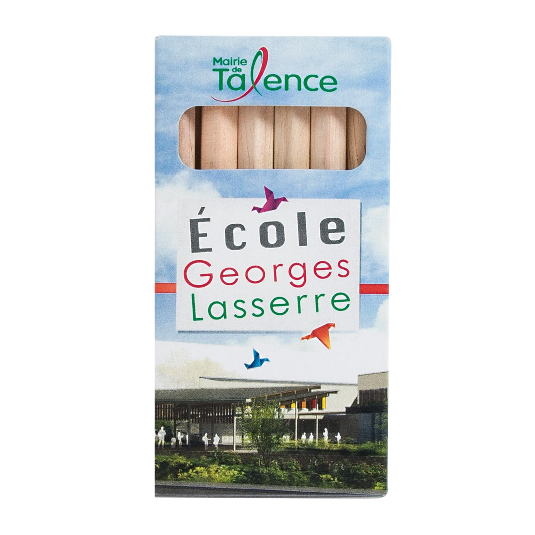Goodies écologique enfants - étui de 6 crayons de couleur Eco 8,7 cm