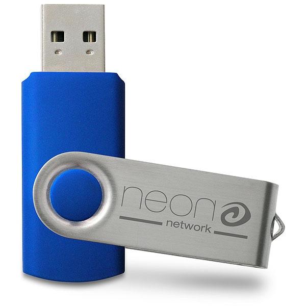 Clé USB publicitaire Swivel - Clé USB personnalisable - jaune