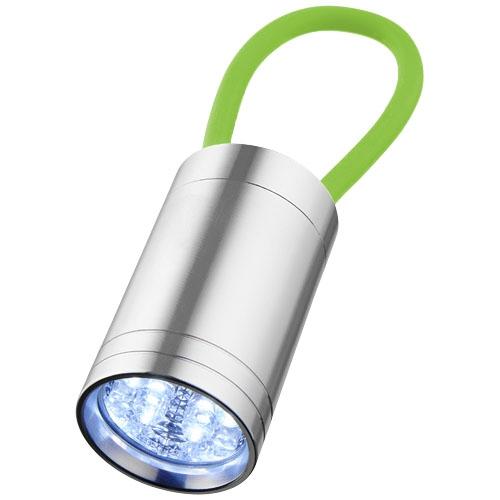 Goodies lumineux - Lampe torche publicitaire à 6 LED Vela avec dragonne lumineuse