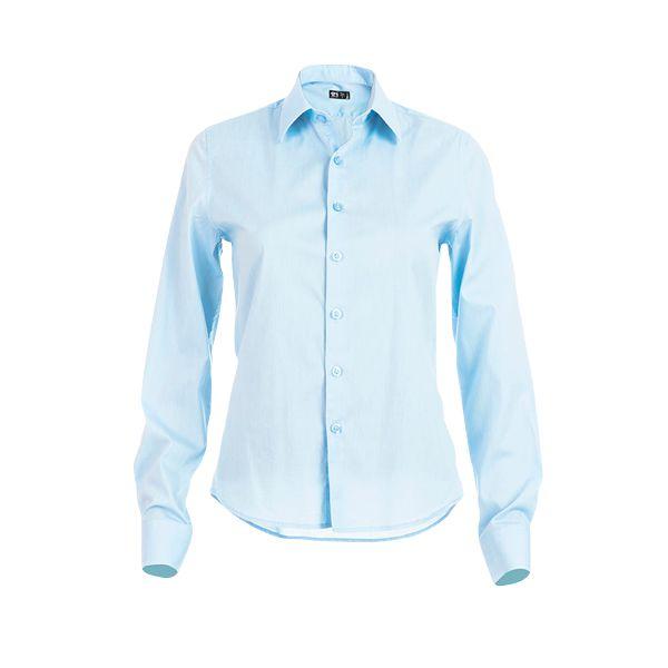 Chemise personnalisée en popeline pour femme Parisienne couleur bleue