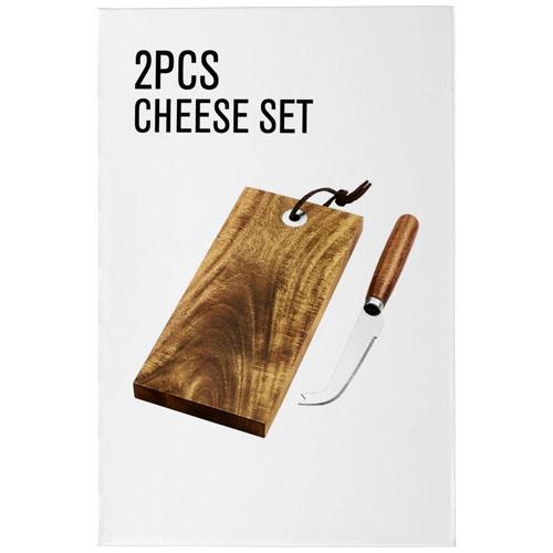 Set à fromage en bois à personnaliser logo - cadeau entreprise écolo