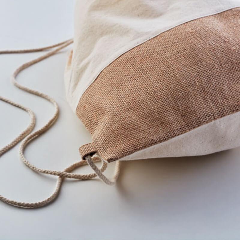 Gym bag personnalisable - Sac à cordon avec détails jute INDIA