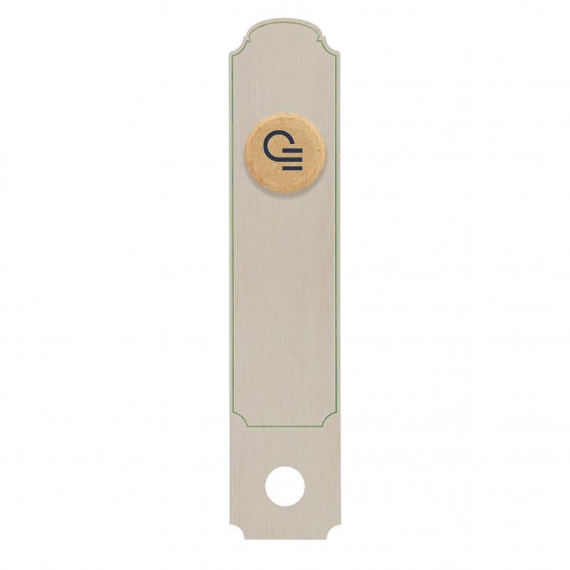 Bouchon en liège avec support en carton personnalisable