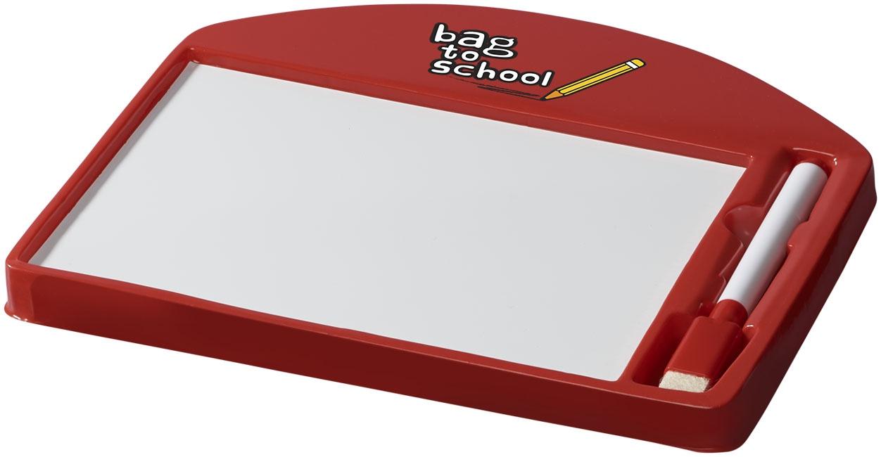 Cadeau publicitaire pour enfants - Ardoise publicitaire Sketchi - rouge