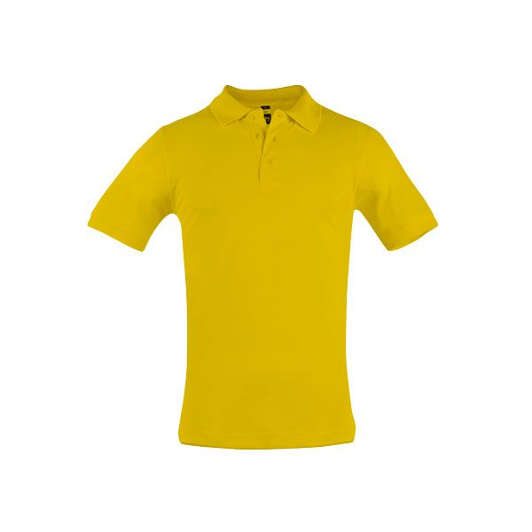 Polo personnalisé pour homme Adam jaune moutarde