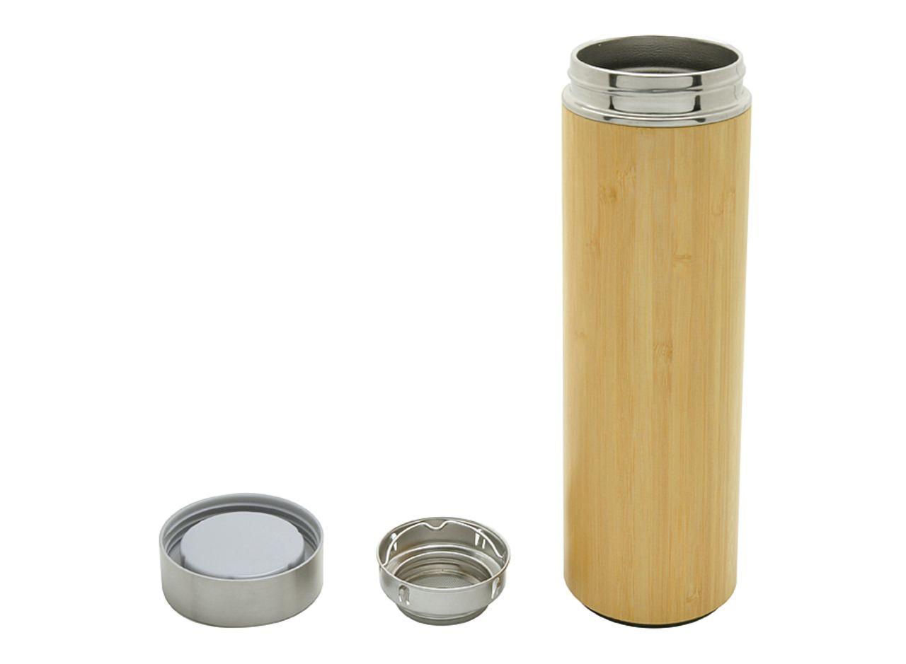 Bouteille isotherme en bambou avec infuseur Onsen 480 mL - Cadeau d'enterprise