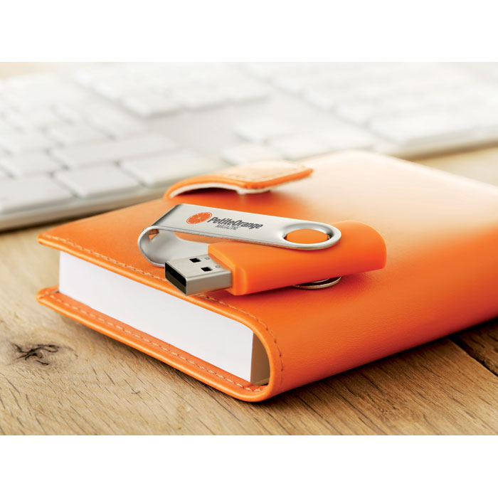 Clé USB publicitaire flash 4GoTechmate - orange
