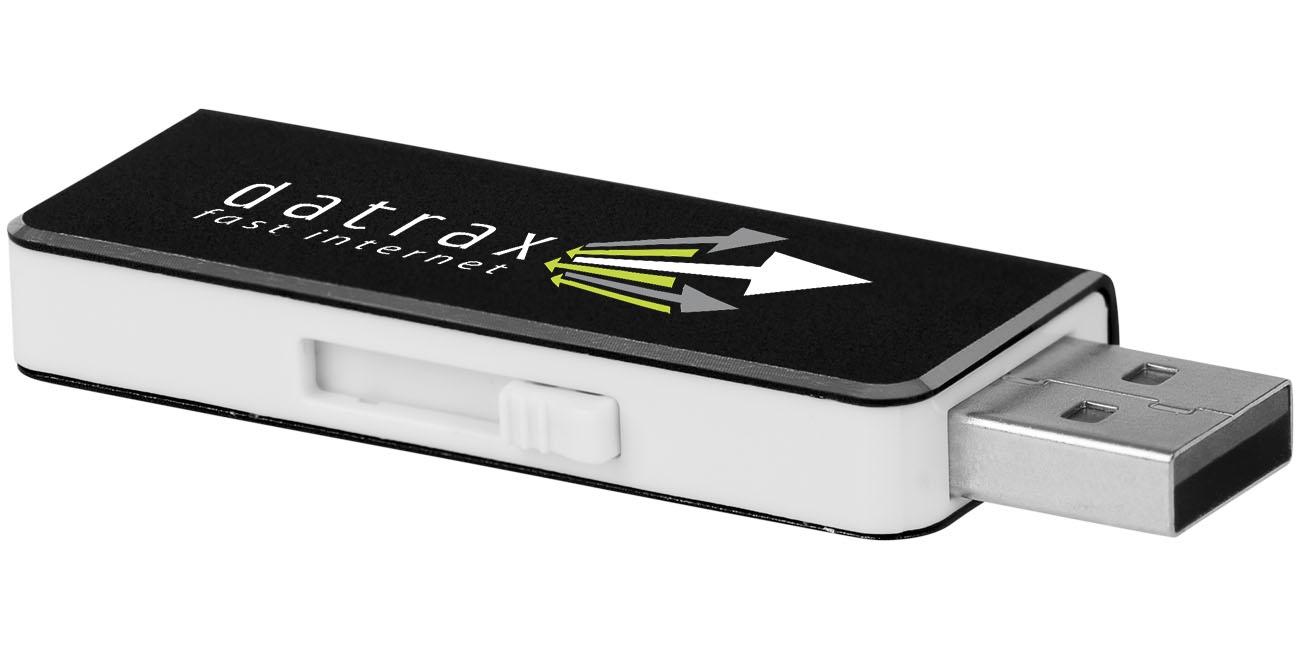 Clé USB personnalisée Glide 8 Go noire