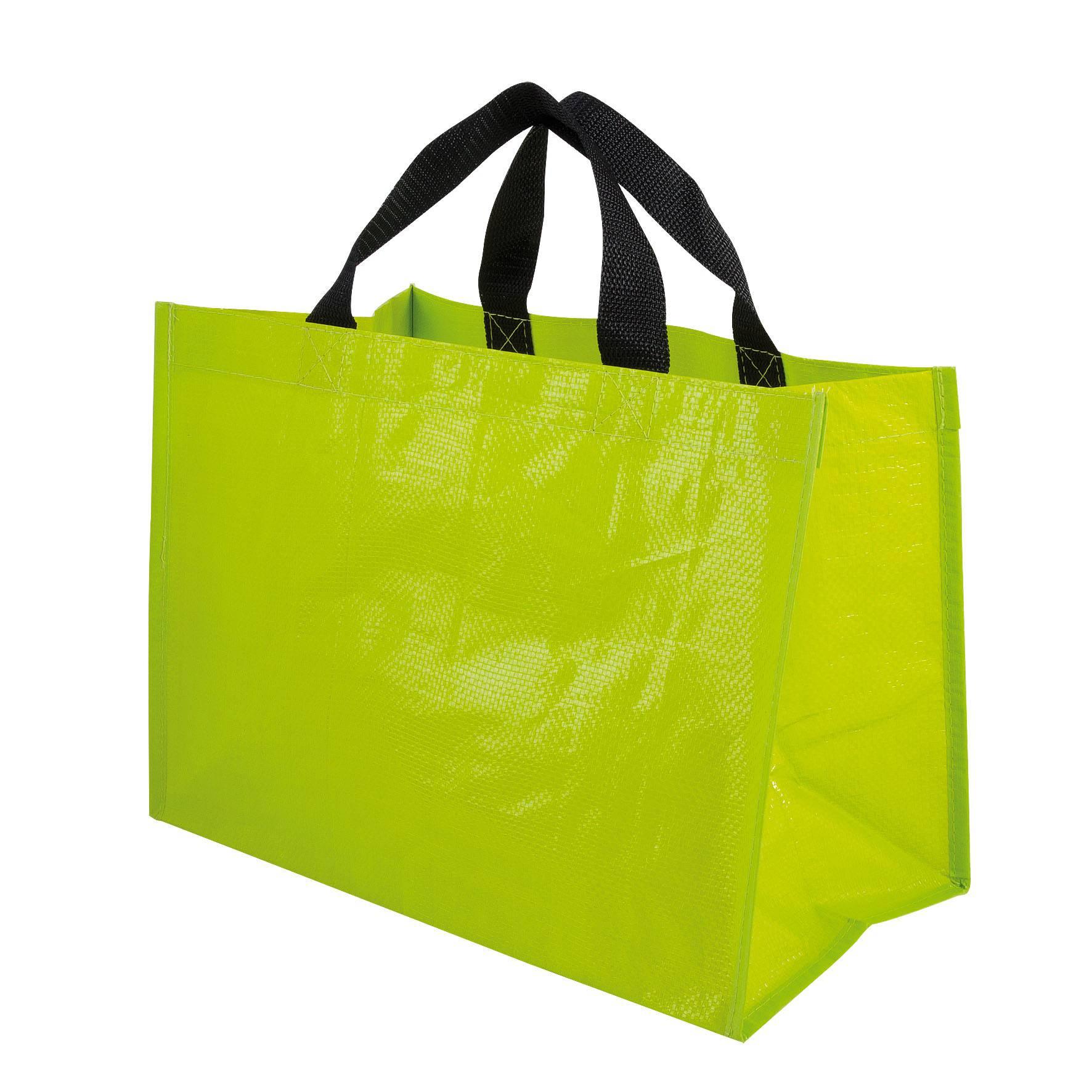 Sac shopping publicitaire PP tissé Horizon - Cadeau publicitaire - vert anis
