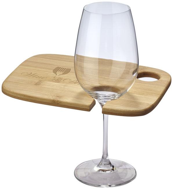 Plateau publicitaire vin et diner Miller en bambou