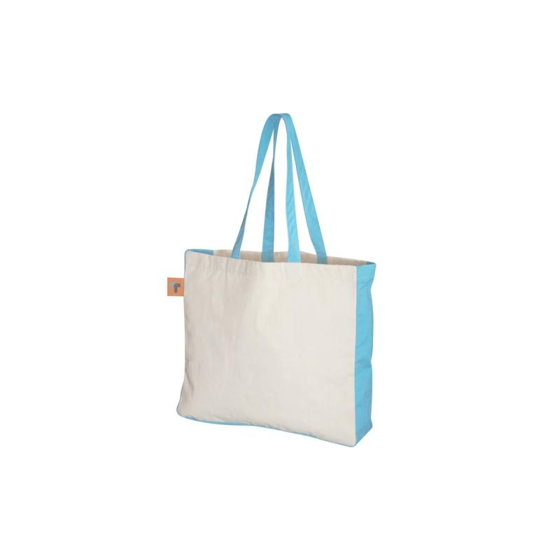 Sac shopping publicitaire bicolore DUO - Tote bag publicitaire coton