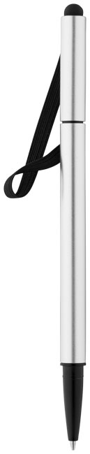 Stylo-stylet publicitaire Stretch - stylo-stylet personnalisable noir