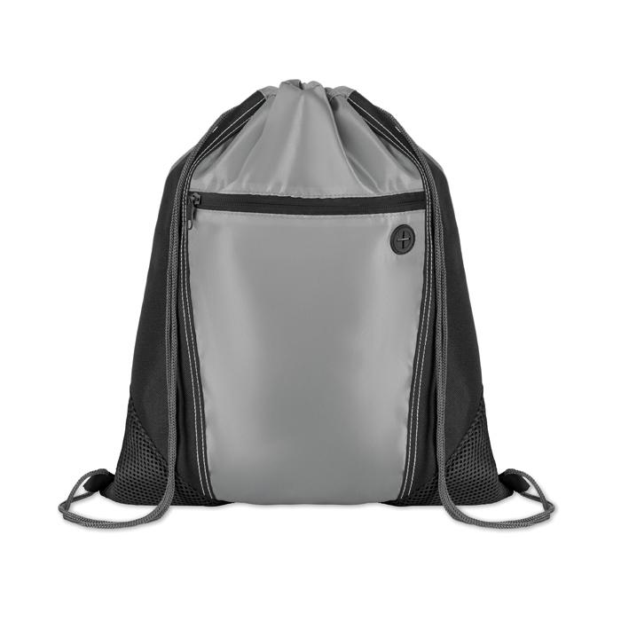 Gymbag publicitaire bicolore avec poche Shoop Grey - goodies