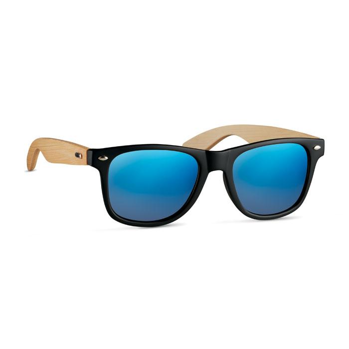 cadeau publicitaire écologique - lunettes de soleil personnalisées branches en bambou California