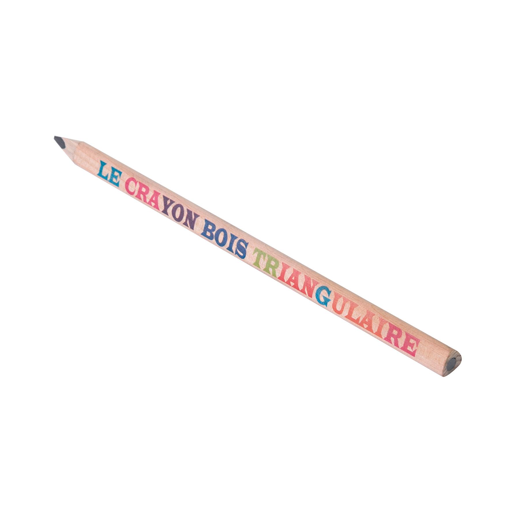 crayon à papier publicitaire écologique forme triangulaire Prestige - goodies écolo