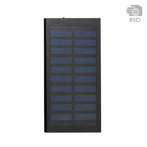 Chargeur solaire personnalisable Sunpower noir - powerbank publicitaire