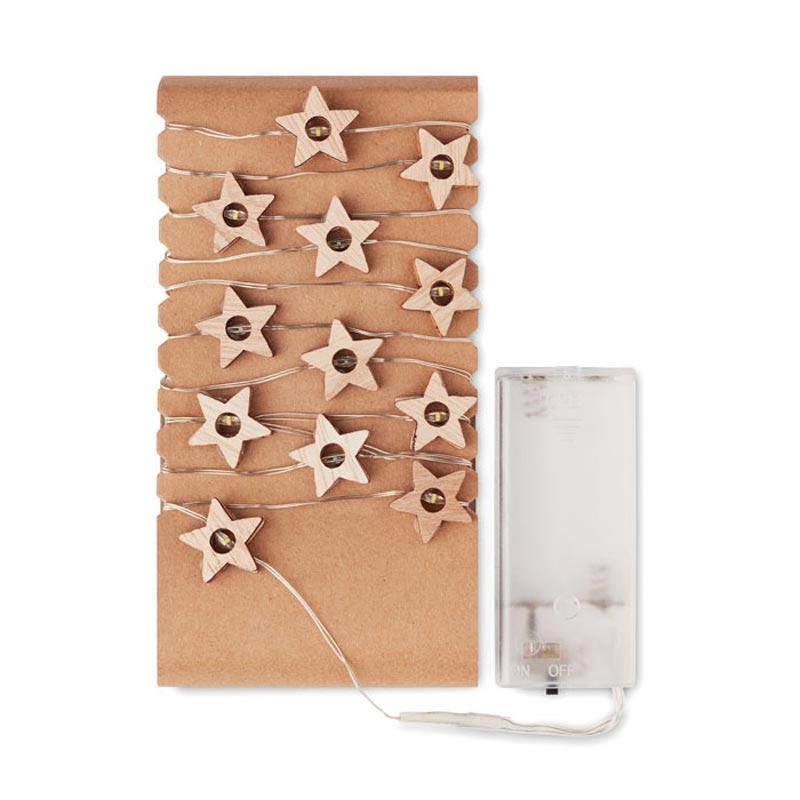 Support cartonné pour guirlande lumineuse étoile