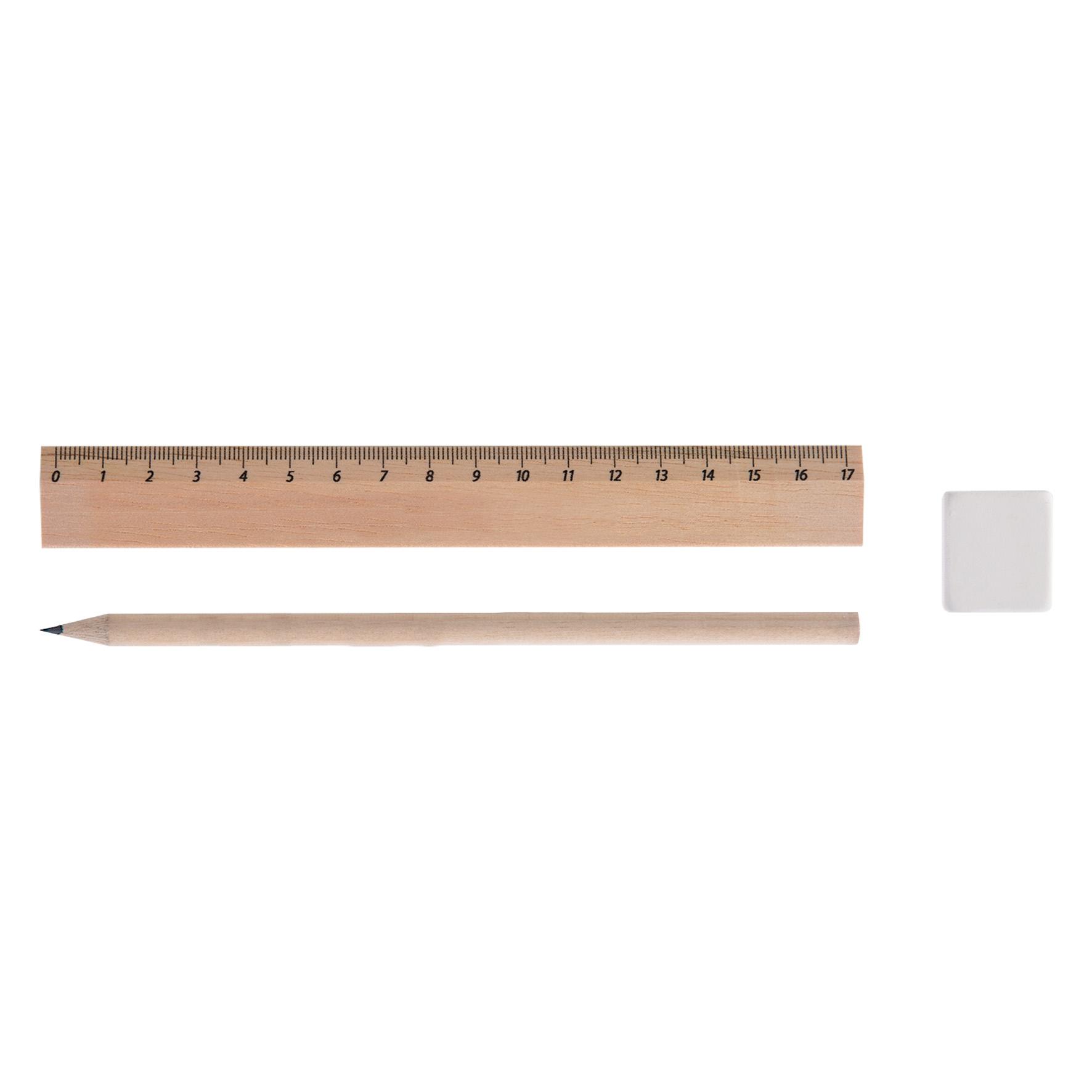 Kit règle et crayon à papier avec gomme Eco 3