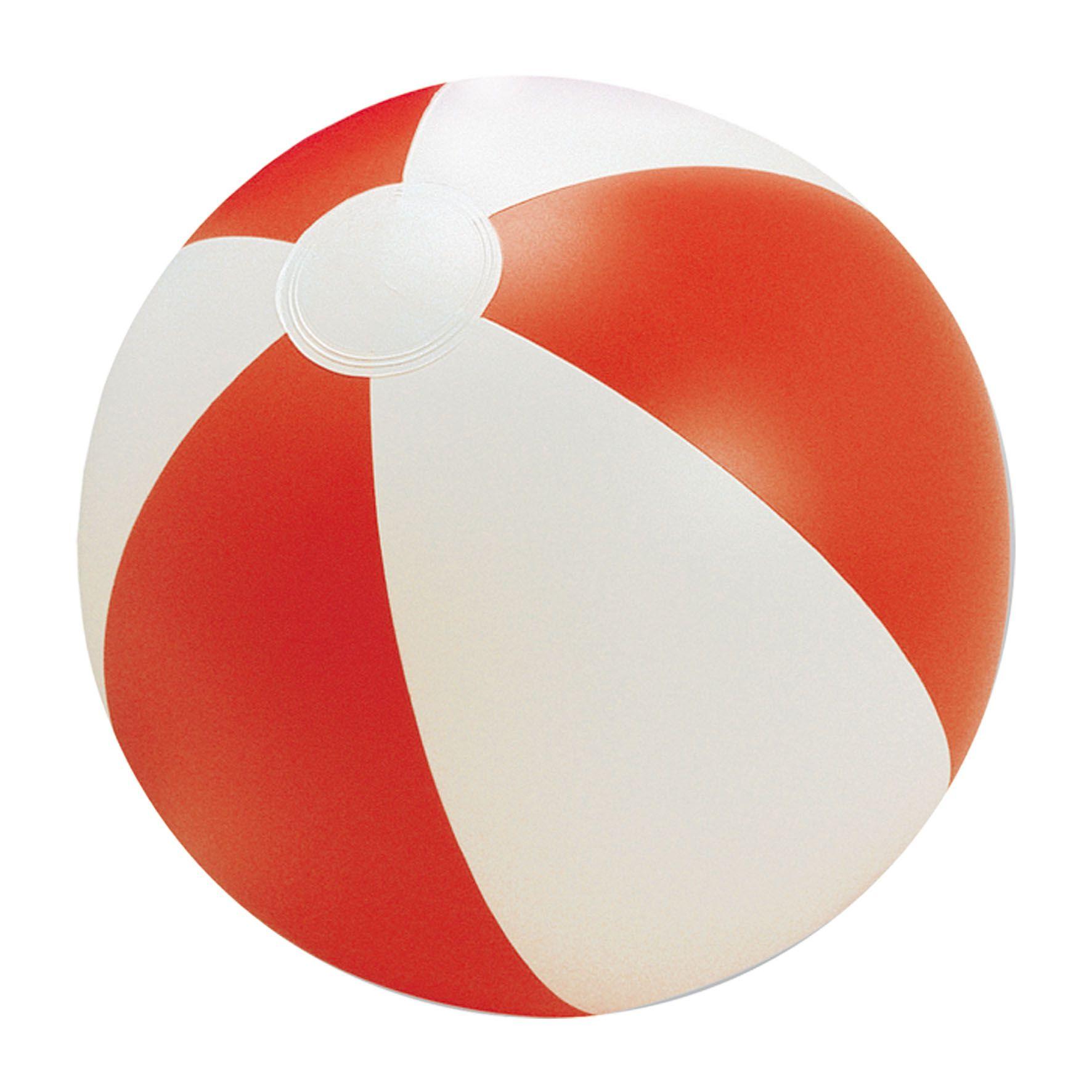 Accessoire publicitaire pour la plage - Ballon de plage Sunny - rouge