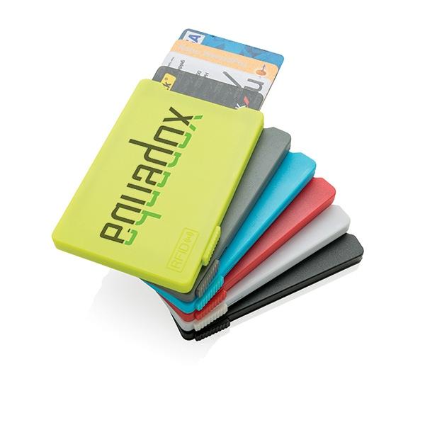 Porte-cartes publicitaire anti-RFID Rassure - Cadeau publicitaire