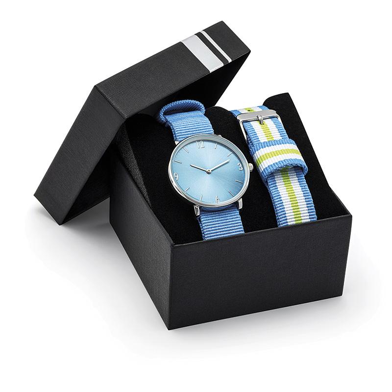 Montre publicitaire Tendance Spectre - cadeau d'entreprise - modèle rond bracelet nato