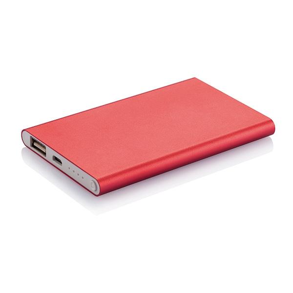 Batterie de secours publicitaire promotionnelle Thin 4000 mAh - cadeau d'entreprise high-tech