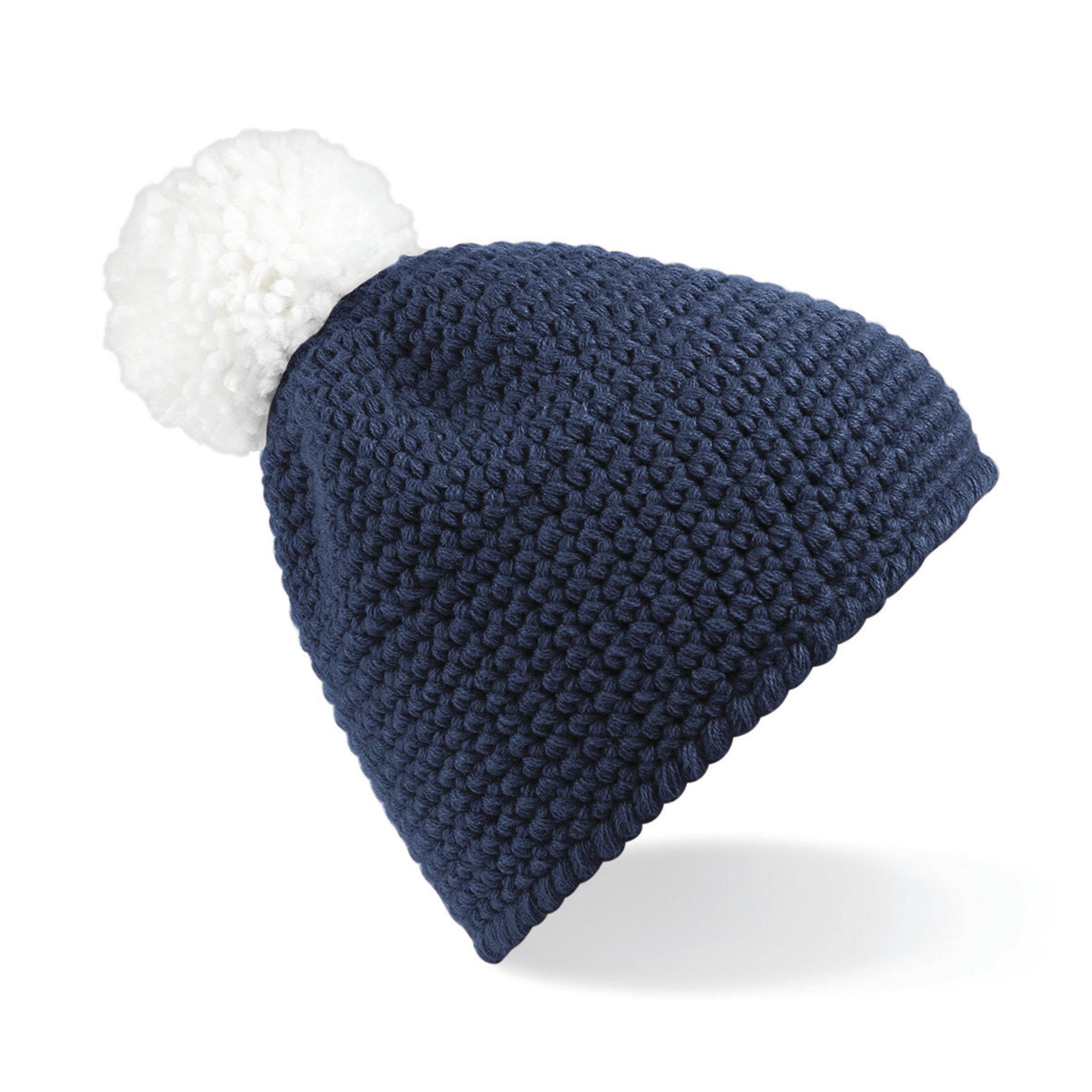 Bonnet publicitaire Waffle bleu sapphir/blanc
