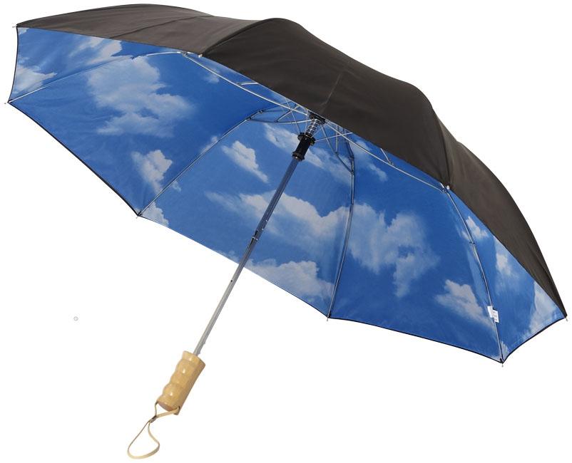 """Parapluie publicitaire automatique 21"""" Blue skies - objet personnalisable"""