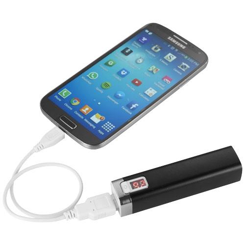Batterie de secours personnalisable Jolt - powerbank promotionnel noir