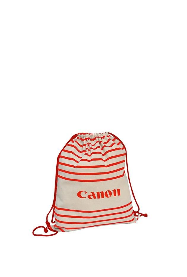 Gymbag publicitaire à rayures Striped - sac à dos personnalisable