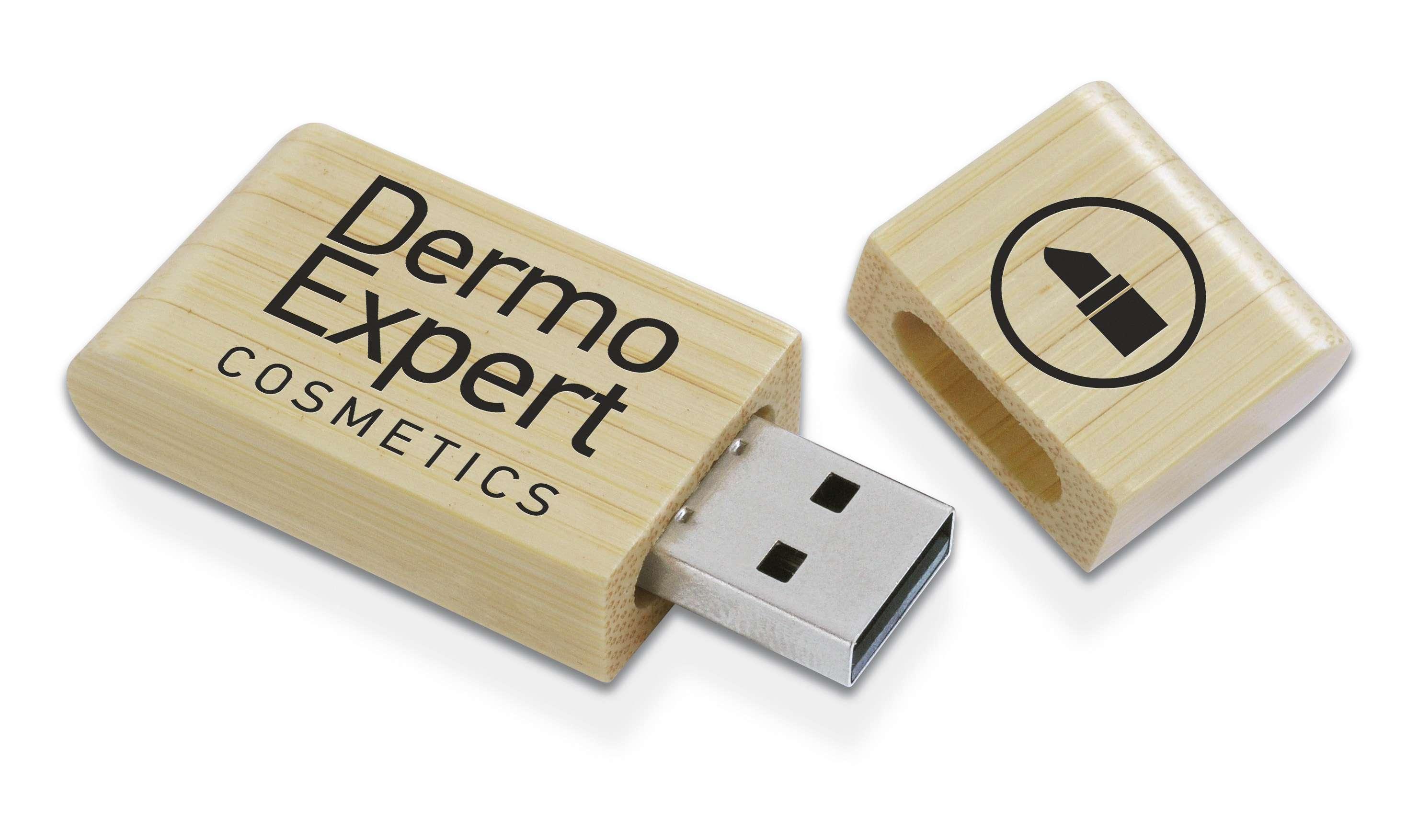 Clé USB publicitaire écologique Natura - Cadeau publicitaire écologique
