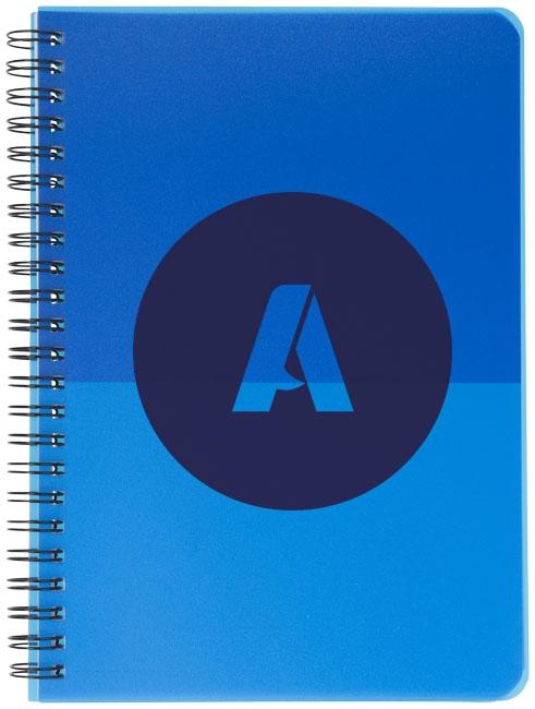 Carnet promotionnel Colour Block A5 - carnet publicitaire vert