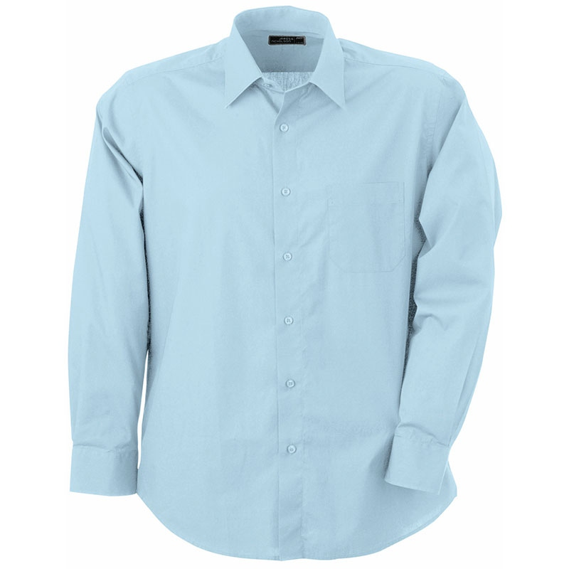 Chemise publicitaire pour homme Dan bleu clair - chemise promotionnelle