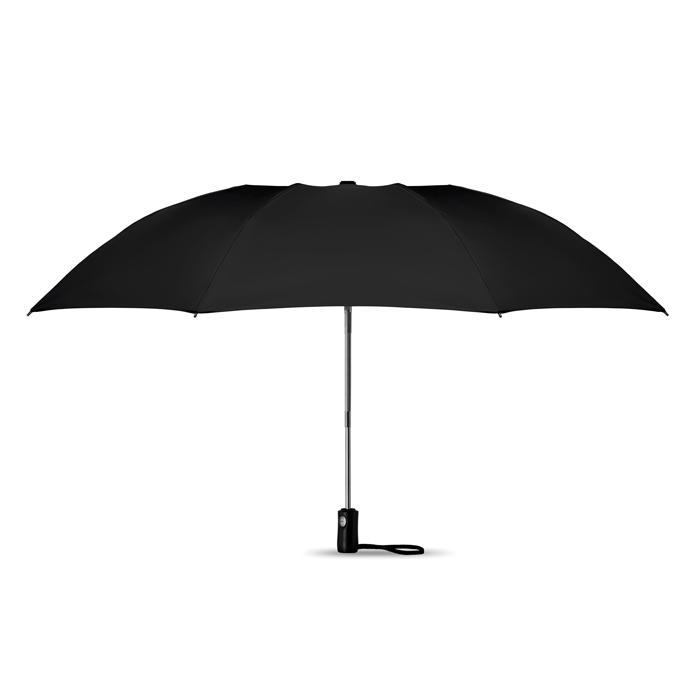 Parapluie publicitaire réversible pliable Dundee - Cadeau publicitaire - noir
