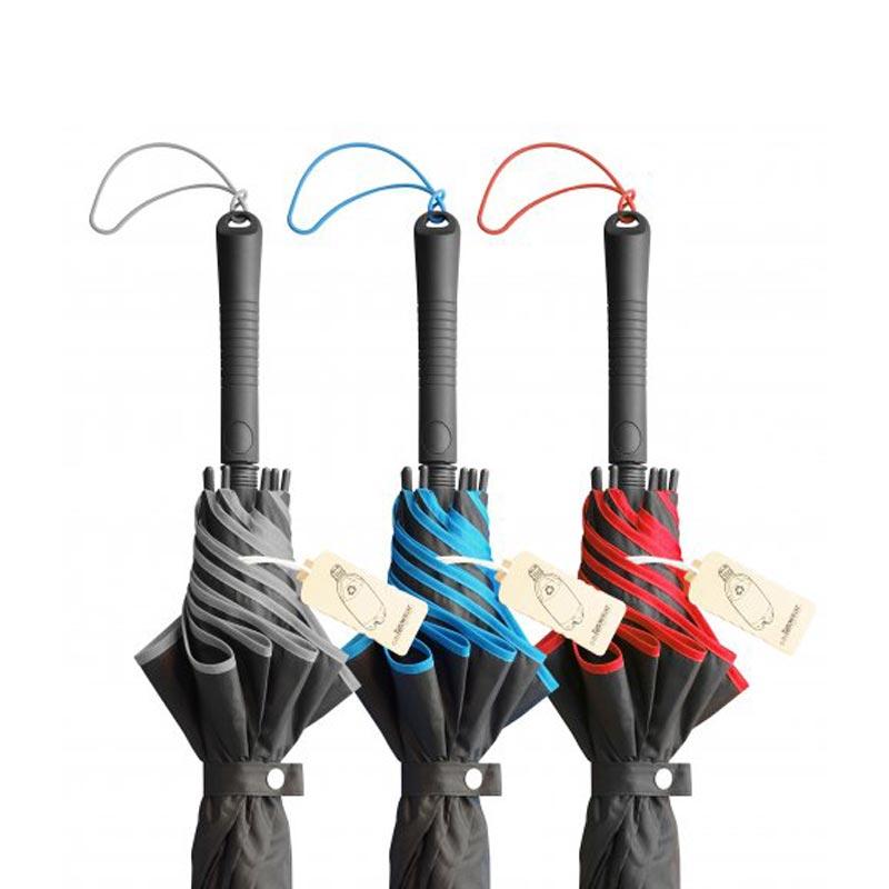 Parapluie publicitaire écologique RPET Andromède - Détails manche