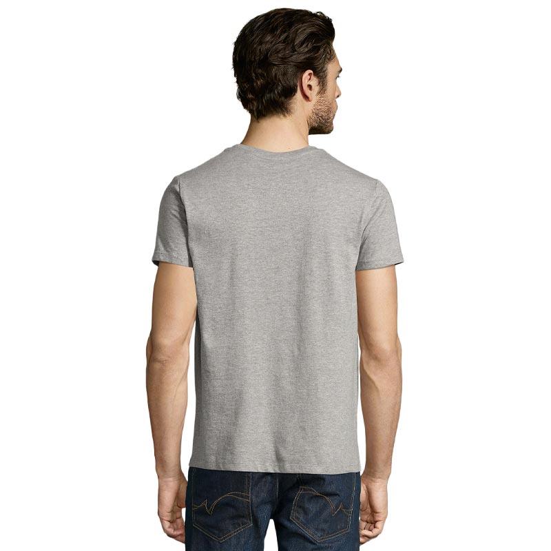 tee-shirt publicitaire homme en coton bio - coloris gris