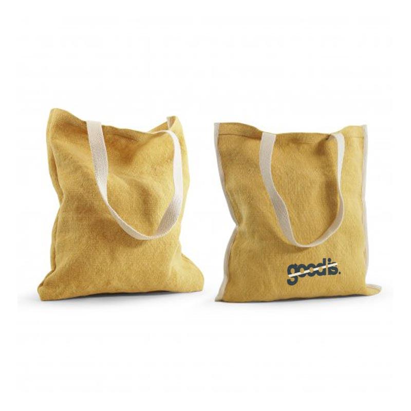 tote bag publicitaire réversible topday jaune