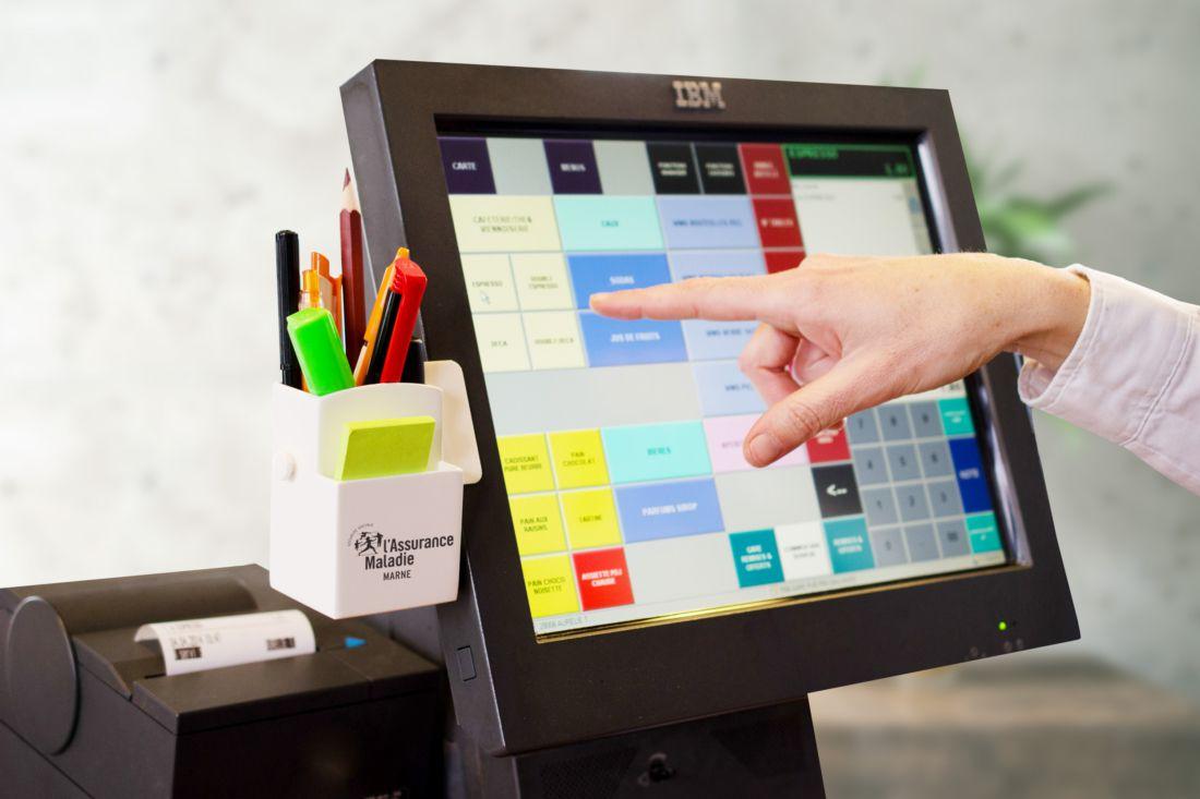 cadeau publicitaire - pot à crayons personnalisé pour ordi Stylo-box