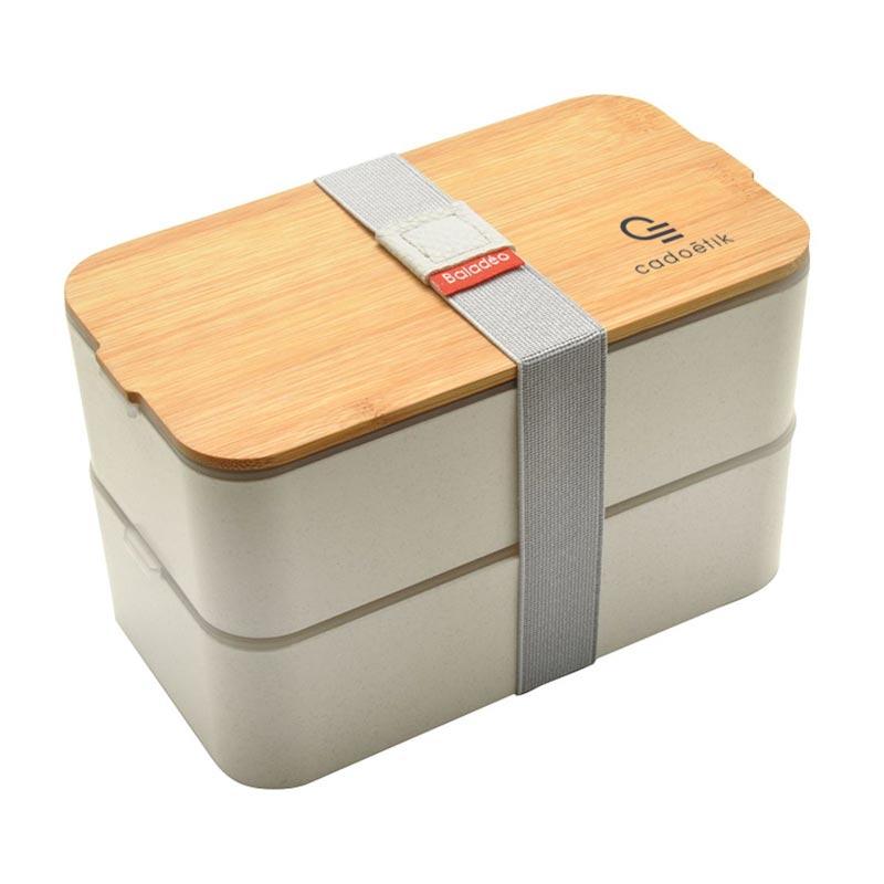 Bento publicitaire en fibre de blé Mihara - Cadeau d'entreprise RSE