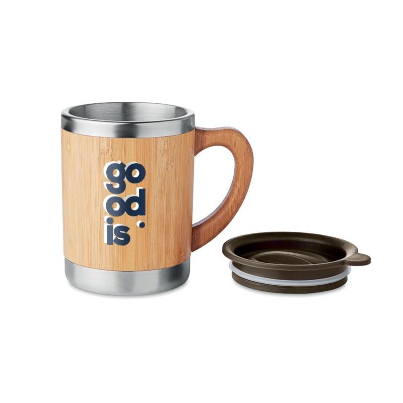 mug isotherme inox bambou personnalisé