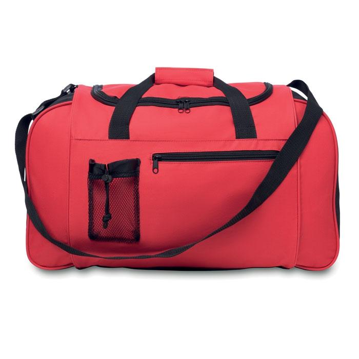 Grand sac de sport publicitaire 600D Parana - Sac de sport personnalisable noir