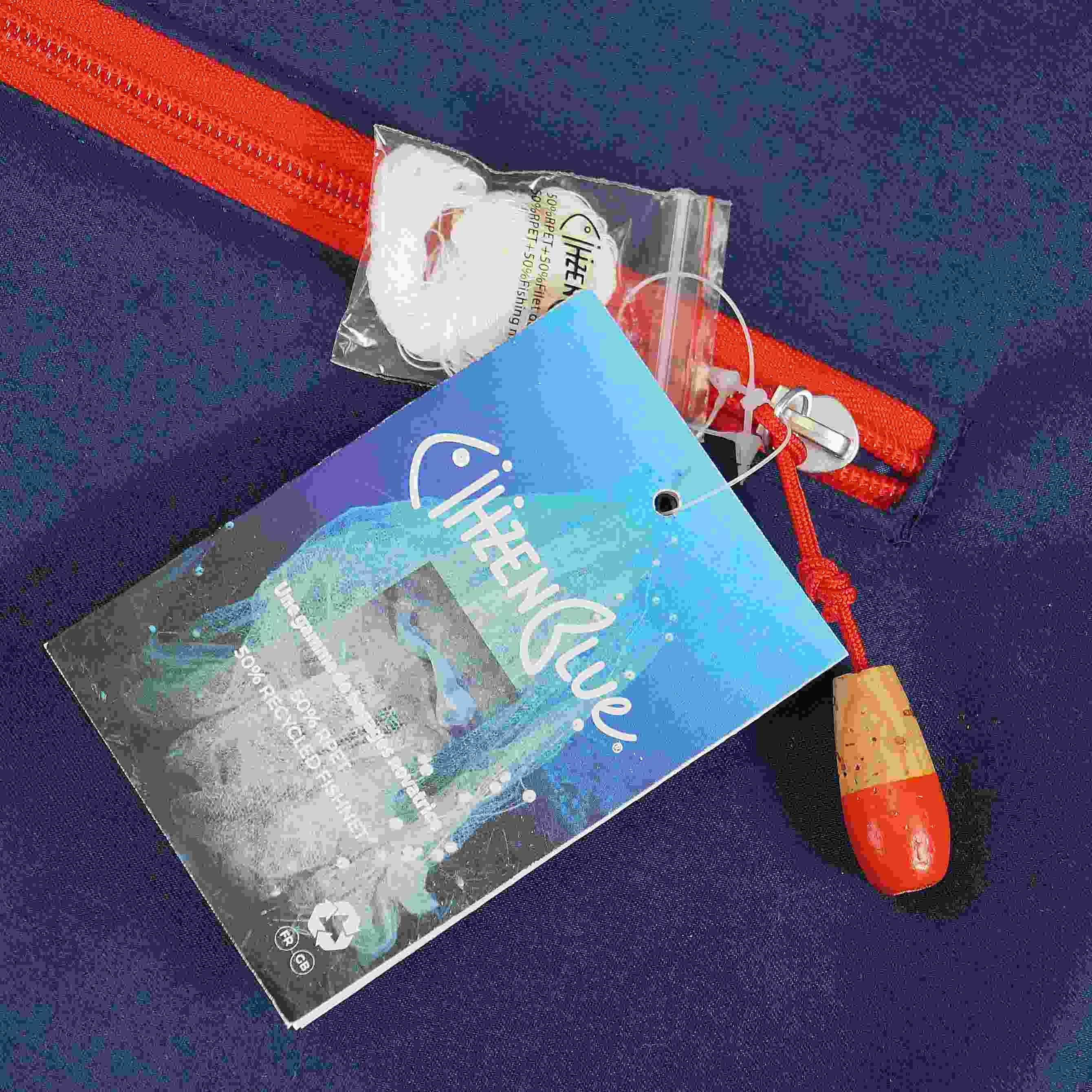 Sac week-end personnalisable écologique Citizenblue bleu - sac de voyage personnalisé