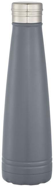 Bouteille isotherme publicitaire Duke en acier inoxydable grise