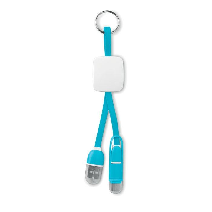 objet publicitaire - Porte-clés publicitaire USB type C Key Ring C - noir