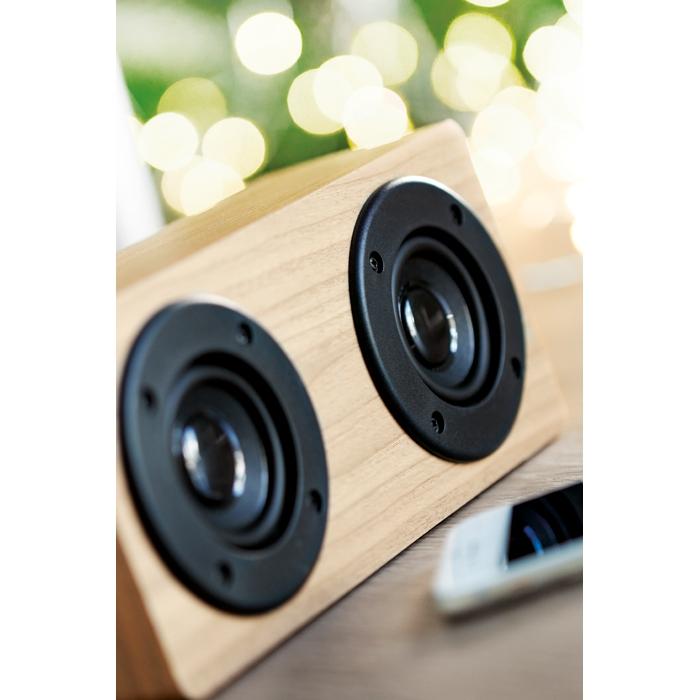 Haut-parleur publicitaire Bluetooth 2x3W Sonictwo - Cadeau d'entreprise pour Noël