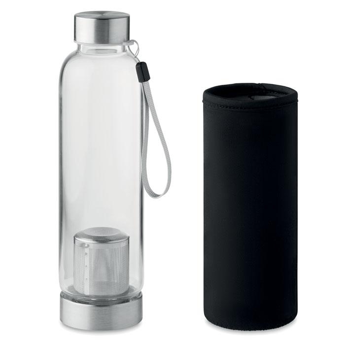 bouteille en verre publicitaire avec infuseur thé Utah - cadeau publicitaire