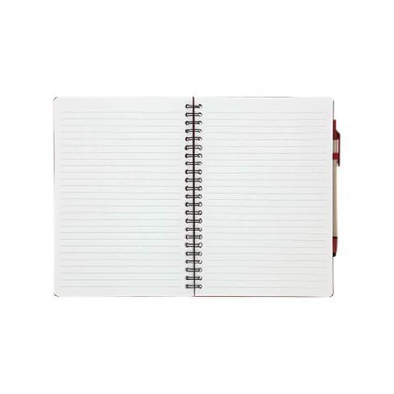 Carnet A5 et stylo en carton recyclé Véra - Goodies écologique