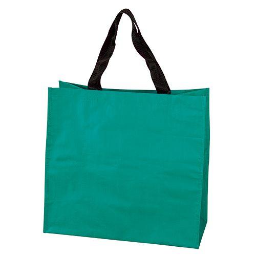 Sac Shopping personnalisé pp tisse Dora - cabas  publicitaire Emeraude
