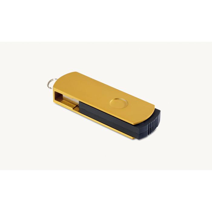 Clé USB publicitaire Metalflash doré