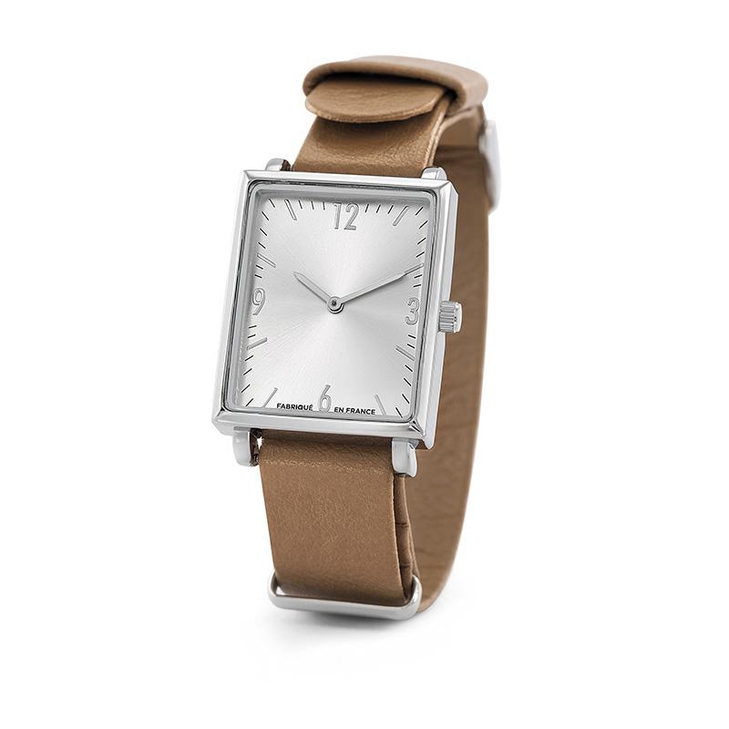 Montre publicitaire Tendance Spectre - cadeau d'entreprise - modèle rond en acier bracelet Milanais